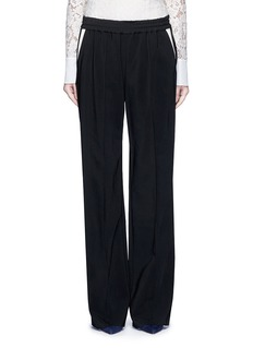 LanvinContrast pocket stripe elastic twill pants