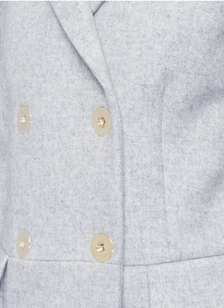 Detail View - Click To Enlarge - Stella McCartney - Wool blend felt overcoat