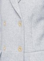 Wool blend felt overcoat