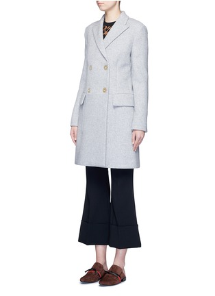 Front View - Click To Enlarge - Stella McCartney - Wool blend felt overcoat