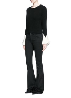 Alexander McQueen Sculptural moving peplum sleeve wool sweater