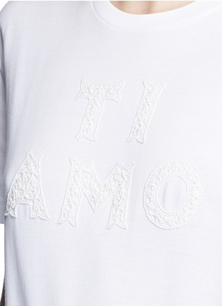 Detail View - Click To Enlarge - Dolce & Gabbana - 'Ti Amo' lace slogan T-shirt