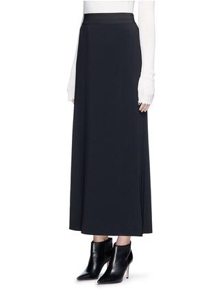 Helmut Lang-Side drape stretch maxi skirt