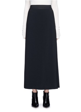 Main View - Click To Enlarge - Helmut Lang - Side drape stretch maxi skirt