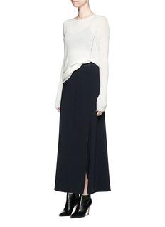 HELMUT LANGSide drape stretch maxi skirt