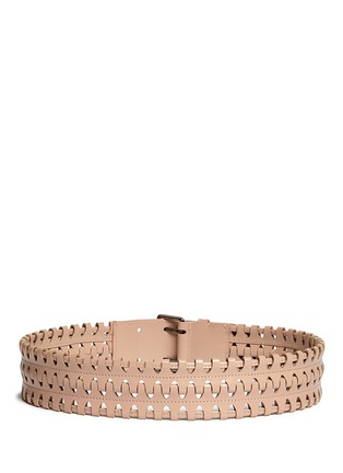 Alaïa - 'Ceinture' woven leather belt