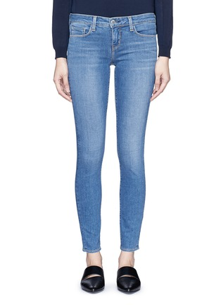 Detail View - Click To Enlarge - L'Agence - 'The Chantal' skinny denim ankle grazer pants