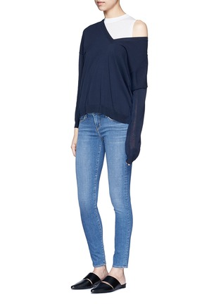 Figure View - Click To Enlarge - L'Agence - 'The Chantal' skinny denim ankle grazer pants