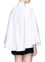 Cape sleeve poplin shirt