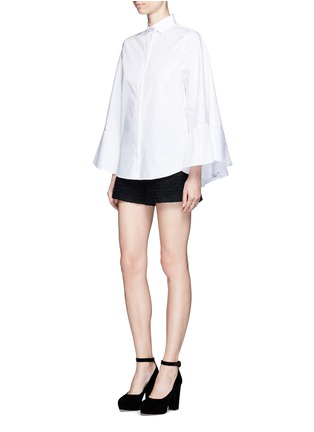 Figure View - Click To Enlarge - Valentino - Cape sleeve poplin shirt