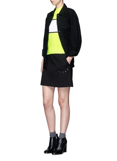 Plys 'Cyclist Span' neon colourblock sweater