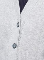 MJ embroidery Merino wool cardigan