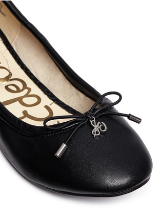 Detail View - Click To Enlarge - Sam Edelman Kids - 'Felicia' faux leather kids ballet flats