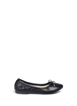Main View - Click To Enlarge - Sam Edelman Kids - 'Felicia' faux leather kids ballet flats