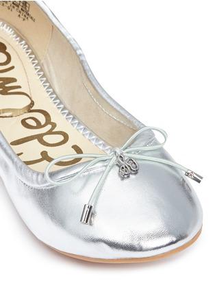 Detail View - Click To Enlarge - Sam Edelman Kids - 'Felicia' metallic kids ballet flats