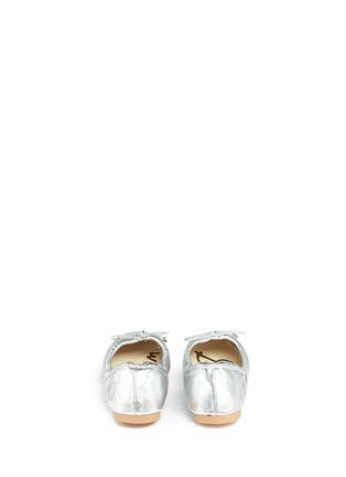 Back View - Click To Enlarge - Sam Edelman Kids - 'Felicia' metallic kids ballet flats