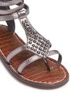 'Amber' stud snakeskin embossed kids sandals