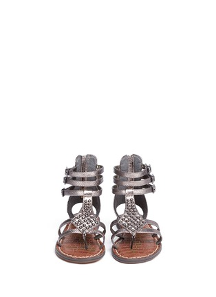 Figure View - Click To Enlarge - Sam Edelman - 'Amber' stud snakeskin embossed kids sandals