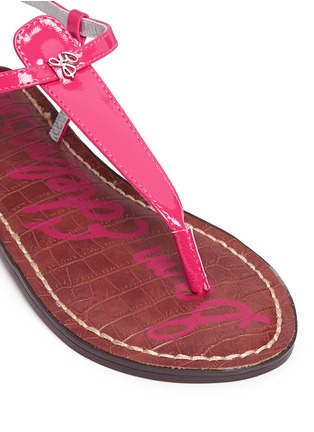 Detail View - Click To Enlarge - Sam Edelman - 'Gigi' patent T-strap kids sandals