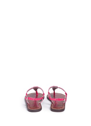 Back View - Click To Enlarge - Sam Edelman - 'Gigi' patent T-strap kids sandals