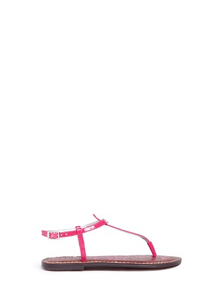 Main View - Click To Enlarge - Sam Edelman - 'Gigi' patent T-strap kids sandals