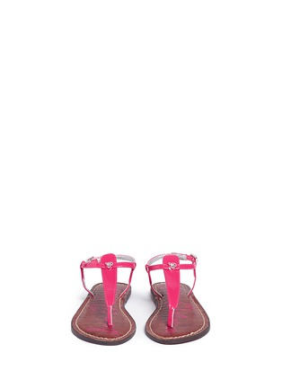 Figure View - Click To Enlarge - Sam Edelman - 'Gigi' patent T-strap kids sandals