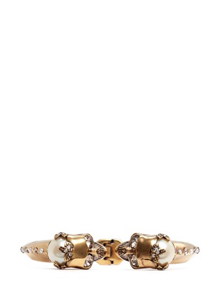 Alexander McQueen - Twin skull faux pearl bangle