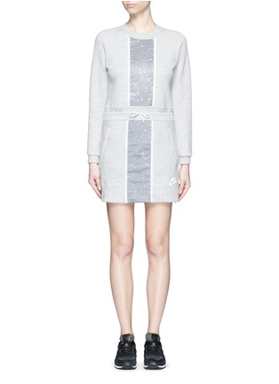 Main View - Click To Enlarge - Nike - 'Tech Fleece Splatter' dress
