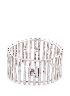 Mellerio Diamond 18k white gold cage bracelet