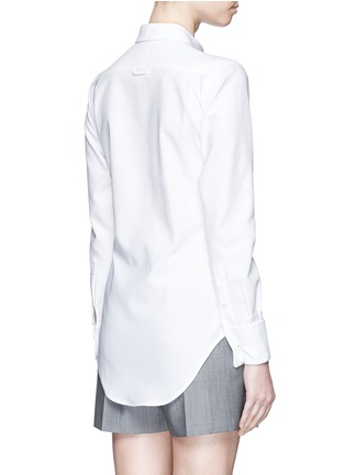 Thom browne french cuff cotton piqu shirt women French cuff shirt women