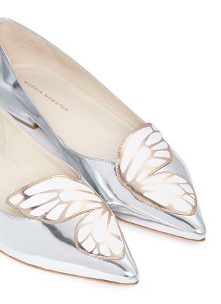 Sophia Webster-Bibi Butterfly' wing appliqué mirror leather flats