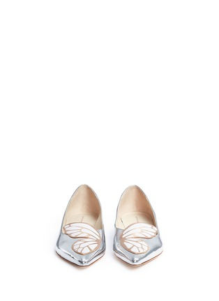 Front View - Click To Enlarge - Sophia Webster - Bibi Butterfly' wing appliqué mirror leather flats