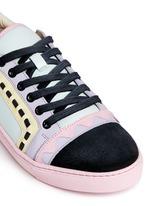 'Riko' geometric trim leather combo sneakers