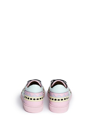Back View - Click To Enlarge - Sophia Webster - 'Riko' geometric trim leather combo sneakers