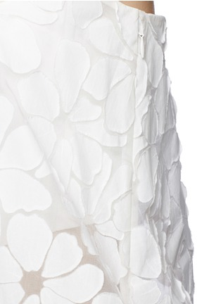 Detail View - Click To Enlarge - Ms MIN - Floral paper appliqué organza strapless top