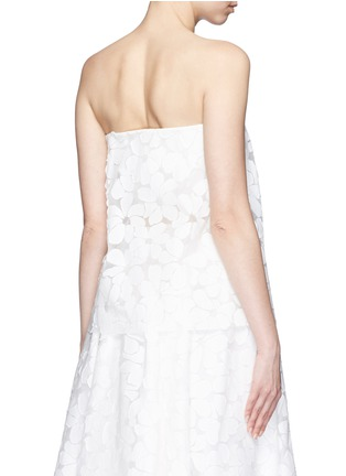 Back View - Click To Enlarge - Ms MIN - Floral paper appliqué organza strapless top