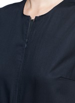 Raw edge wool sleeveless jumpsuit