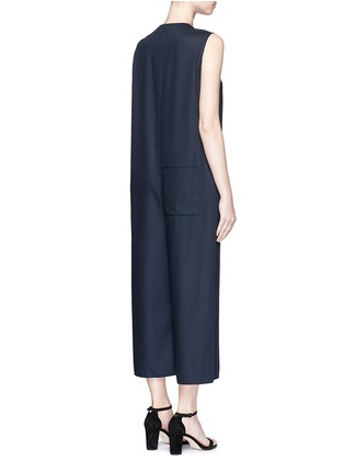Back View - Click To Enlarge - Ms MIN - Raw edge wool sleeveless jumpsuit