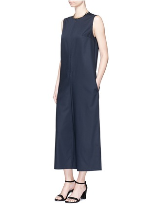 Figure View - Click To Enlarge - Ms MIN - Raw edge wool sleeveless jumpsuit