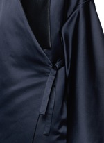 Reversible silk satin blanket coat