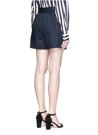 Back View - Click To Enlarge - Ms MIN - Pleated wool shorts