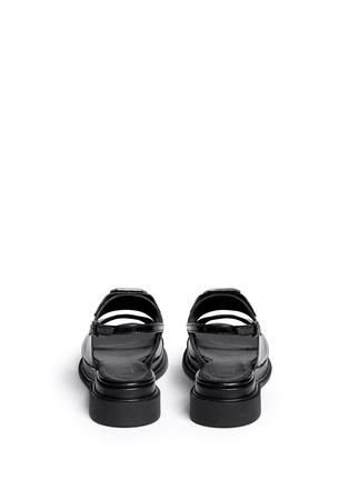 背面 - 点击放大 - ROBERT CLERGERIE - Gamure交叉搭带仿宝石真皮凉鞋