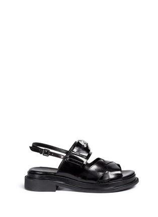 Robert Clergerie - 'Coucou' jewel front leather sandals