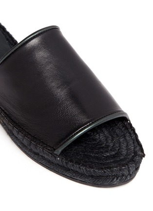 Detail View - Click To Enlarge - Robert Clergerie - 'Ela' lambskin leather espadrille slide sandals