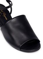 'Emina' strass block heel leather sandals