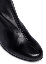 'Ketch' strass pavé heel stretch leather boots