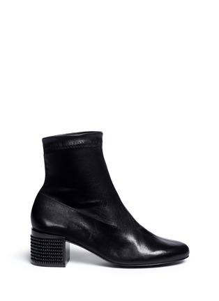 Main View - Click To Enlarge - Robert Clergerie - 'Ketch' strass pavé heel stretch leather boots