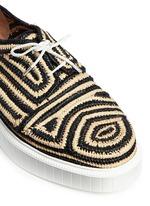'Paga' colourblock Aztec raffia flatform Derbies