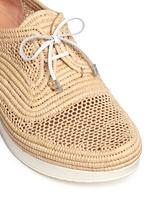 'Vicolek' braided raffia wedge lace-ups