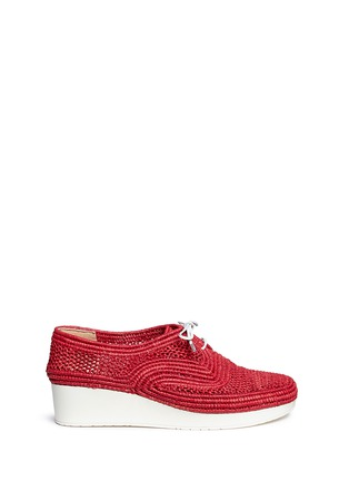 Robert Clergerie - 'Vicolek' braided raffia wedge lace-ups